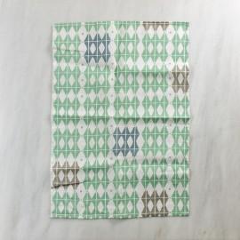Paño de cocina de lino verde escarcha