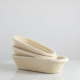 Banneton ovalado, pulpa de madera
